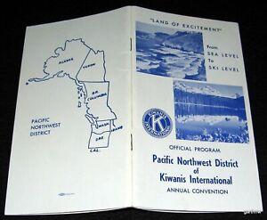 KIWANIS INTERNATIONAL 1968 PACIFIC NORTHWEST DISTRICT CONVENTION PROGRAM OREGON