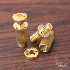Schroeder Locking Studs GOLD- METRIC thread-  replace Tone Pros