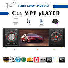 4''1 Din Car Radio Touch Screen TF AM AUX 2USB Stereo RDS BT FM MP5 Player +SWC