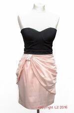 L216/14 Lipsy sexy corsetto nero London Salmone Mini Abito, Taglia 8/10