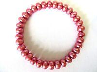 Honora Cultured  Rose Color Pearls  Stretch  Bracelet