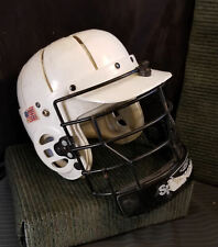Vintage Lacrosse or other Sports Helmet w/Face Cage Model SHCM White Throwback