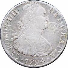 Mexico 8 Reales Mo 1794 F.M. Carolus IIII KM# 109