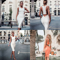 Bandage Women's Sleeveless Bodycon Club Short Evening Cocktail Dress Mini Party
