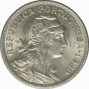 Ek // 50 centavos Portugal 1929 SUP