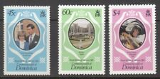 1981 Dominica Royal Wedding set of 3 mint stamps.