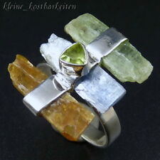 Ring * 925er Sterlingsilber * Kyanit (Grün, Blau, Orange) * Peridot * RG 57