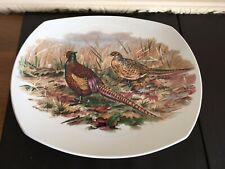 Ridgway Ironstone Retangular Plate - Pheasants