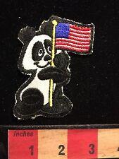 "Vintage Patch Cool ? PANDA BEAR ? USA FLAG Hallmark Brand ""Rumper Stitcher"" 66Z9"