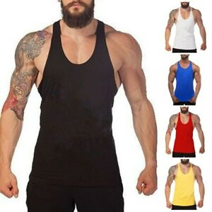 Mens Gym Tank Top Vest Bodybuilding Muscle Stronger Fitness Sleeveless T Shirts