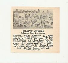 Caraway Redbirds Arkansas 1953 Baseball Team Picture