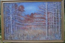 Large Autumn Landscape Modernist Oil Painting-1950s-Otto Rothenburg