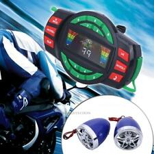 Motorcycle Bluetooth Handlebar Audio System TF FM Radio Stereo Amplifier Speaker