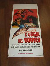 LOCANDINA L'ORGIA DEL VAMPIRO AL ADANSON The Brain of Blood HORROR
