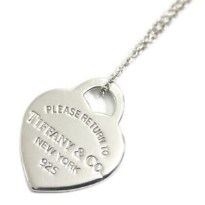 Tiffany & Co. Return to Heart Tag Pendant Necklace Sterling Silver 925 Women 3