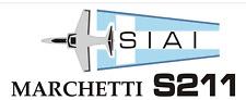 A197-a SIAI Marchetti S211 Airplane hangar garage - two large banners 2'x5'
