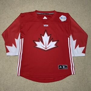 Youth 2016 Team Canada World Cup of Hockey Adidas Jersey Red L/XL Toronto Gold
