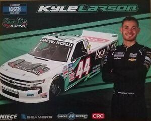 2021 KYLE LARSON #44 RICHMAR FLORIST BRISTOL DIRT NASCAR POSTCARD