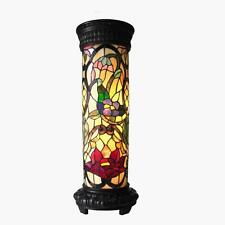 Stained Glass Chloe Lighting Floral 2 Light Pedestal Lamp Ch19040Rf30-Pl2 New
