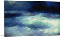 ARTCANVAS Among the Waves 1898 Canvas Art Print by Ivan Aivazovsky