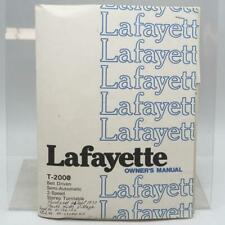 Vintage Lafayette T-2000 Turntable Manual