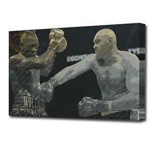 Tyson Fury Wilder Boxing Grunge Sports SINGLE CANVAS WALL ART AA1836