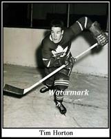 1952 Rookie Tim Horton Toronto Maple Leafs Black & White 8 X 10 Photo Picture