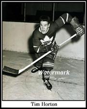 1952 Rookie Tim Horton Toronto Maple Leafs Black & White 8 X 10 Photo Free Ship
