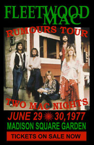 FLEETWOOD MAC REPLICA 1977*RUMOURS TOUR* CONCERT POSTER