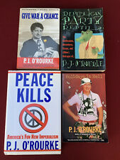 4 P.J. O'Rourke Peace Kills Holidays in Hell Republican Party Reptile Give War
