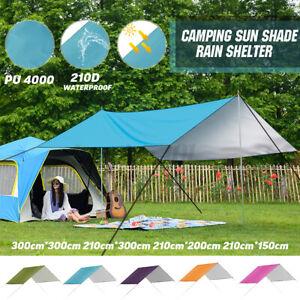 Tarp Sonnensegel Hängematte Wasserdicht Outdoor Camping Zelt Plane 300*300 cm