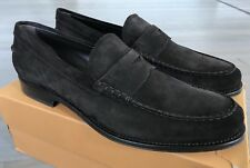650$ Tod's Brown Moccassino Formale Suede Loafers Size US 13.5 Made In Italy
