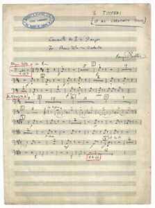 BENJAMIN BRITTEN Signed Music Score  - English Conductor / Composer - Preprint
