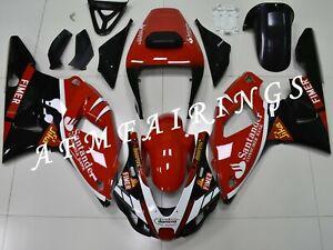 Santander Red Black ABS Injection Mold Bodywork Fairing Kit for YZF R1 1998-1999