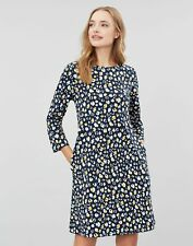 Joules Womens Layla Print A-Line Dress - Navy Leopard - 16