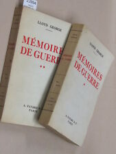 GEORGE Davi MEMOIRES de GUERRE. Traduction de C. Bonnefon. tome 1 et 2...