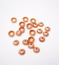 50 PCS 5MM SOLID COPPER BEAD CAP HOLE .9MM (GENUINE SOLID COPPER) MADE IN USA