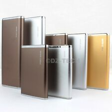 3000mAh 6000mAh 10000mAh Aluminum Power Bank Portable External Battery Charger