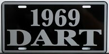 1969 69 DODGE DART METAL LICENSE PLATE 170 270 GT CONVERTIBLE 273 340 383 GTS