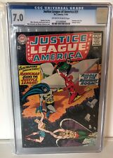 JUSTICE LEAGUE OF AMERICA #31 - CGC 7.0 - HAWKMAN JOINS - OW/W  PAGES