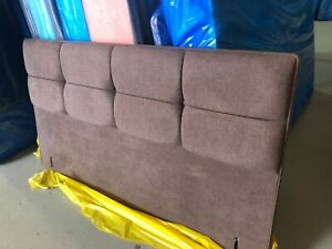 Hypnos Fiona Headboard for SHALLOW base 180CM super king 6ft imperio brown 100h