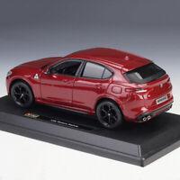 BBURAGO 1:24 Scale Alfa Romeo Stelvio Diecast Models Car SUV Toys Model FOR Gift