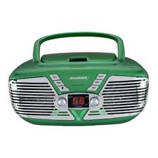 Sylvania Portable CD Boombox with AM/FM Radio, Retro Style, Green SRCD211-GREEN
