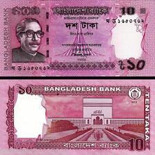 BANGLADESH 10 TAKA UNC COLORFUL NOTE  #  7