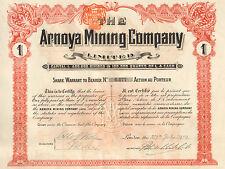 The Arnoya Mining Company, accion, London, 1909 (Orense, Espana)