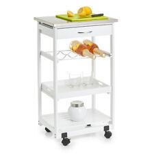 Küchenrollwagen Küchenwagen Servierwagen Küchenregal Regal Rollwagen weiß Wagen