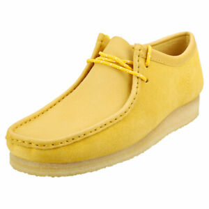 Clarks Originals Wallabee Mens Yellow Suede Wallabee Shoes