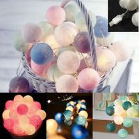 Macaron USB 20 LED Cotton Ball String Lights For Bedroom Fairy Wedding Party HOT