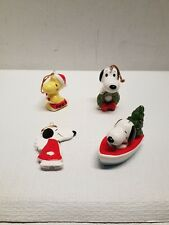 Lot 4 VINTAGE PEANUTS UFS SNOOPY  & WOODSTOCK CHRISTMAS ORNAMENT - JAPAN