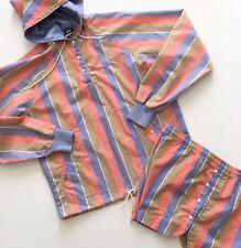 Vintage Nike 80's 2-Piece Pastel Stripe Anorak Jacket Shorts Set Women's Medium